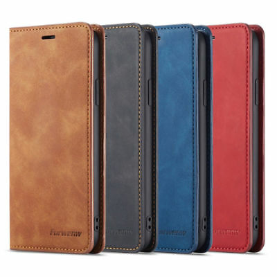 Card Slot Leather Magnetic Stand Wallet Flip Case Cover For iPhone XS Max XR 7 8