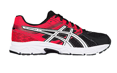 premium selection cdbbc e17ad NEW ASICS GEL-Contend 3 Running Shoes Boys Grade School Sz 1 M Black