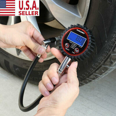 Car Tyre Pressure Gauge Motorbike Digital Air Auto Tire Meter Tester 0-200 psi