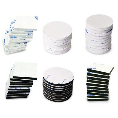 50x/Set Double Sided Sticky Pads Black  3m Adhesive Foam Pads Mounting Pads
