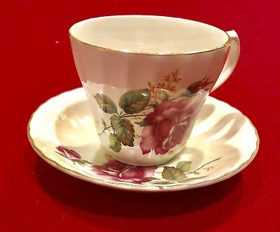 H. Aynsley & Co Staffordshire England Rose Tea Cup & Saucer