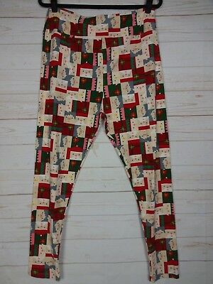 d7416fc0ea3c48 LuLaRoe TC2 Leggings - Santa & Mrs Claus - Christmas - Holiday NWT - A2617