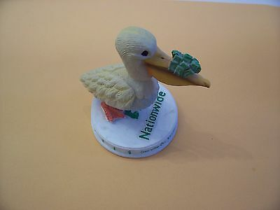 """New Pelican Bobble-Head With A Beek Full Of Cash  ( 3 3/4"""" X 4"""" )"""