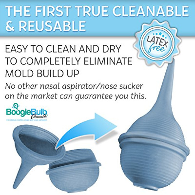 BoogieBulb Baby Nasal Aspirator and Booger Sucker for Newborns Toddlers & Adult