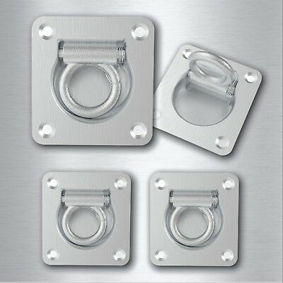 4 X Lashing Ring Zinc Plated Tie Down Points Anchor Ute Trailer 96 X 102 Mm