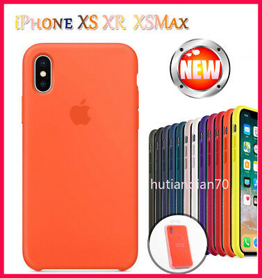 Authentique Officiel silicone souple case cover Pour iphone 8 7 6s Plus X/XS MAX