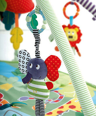 Bell Rattles Music Elephant Bed Safety Soft Seat Baby Plush Stroller Dolls Toys