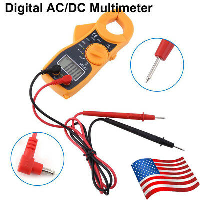 Portable Clamp Meter Digital AC/DC OHM TRMS AMP Tester Capacitance Multimeter
