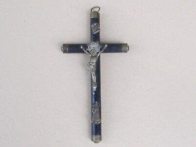 Rare Antique French Cross/crucifix Jesus Chriest, Napoleon Iii-19Th C