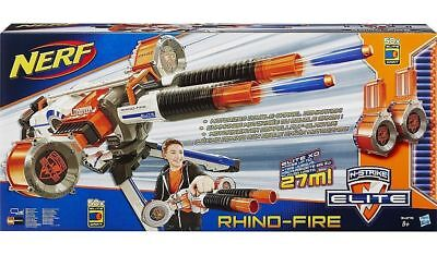 Nerf N-Strike Rhino Fire Elite Blaster Ammo 50 Darts Drums Gun Boys Birthday Toy