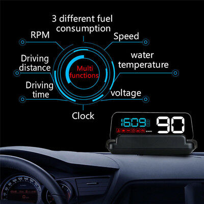 C500 Car HUD  Head Up Display Speed Warning System RPM Speedometer Project X