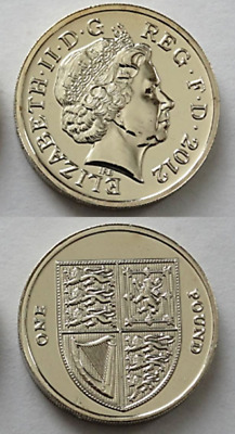 2012 Royal Shield of Arms  £1 One Pound Mint Coin Uncirculated Fourth Portrait