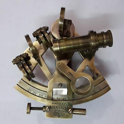 Nautical Gift Solid Brass Sextant Vintage Kelvin Hughes Antique Sextant Replica