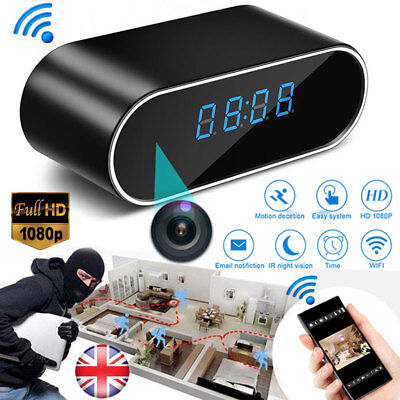 HD 1080P Wireless Wifi Hidden Spy Security IP Camera Clock Motion Night Vision