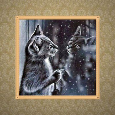 5D Diamond Painting Full Drill Cat Embroidery Cross Stitch Craft Wall Pictures Z