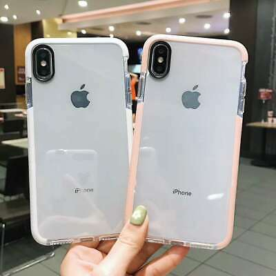 Case For iPhone 8 7 Plus X XS Max XR Bumper Shockproof Silicone Protective Cover