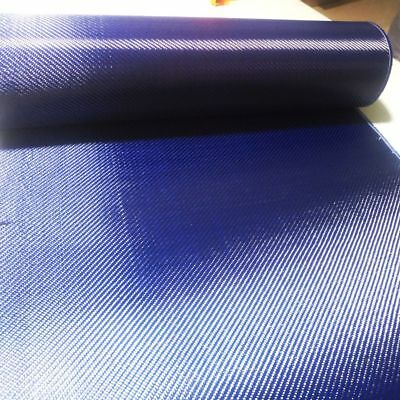 Carbon Fiber& Blue Kevlar Mixed Fabric 70cm Aramid Cloth Twill Anti-Pull Warp