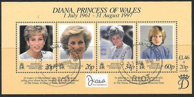 British Indian Ocean Terr Sgms214 1998 Diana Princess Of Wales Fine Used