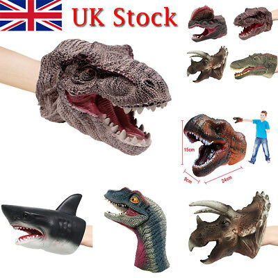 Jurassic Dinosaur Fun Moving Mouth Hand Puppet Play Kids Toys Gift Glove Role UK