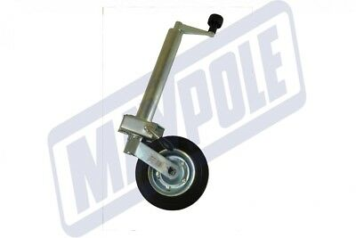 48mm Maypole jockey wheel and clamp with solid wheel for trailers caravans MP436