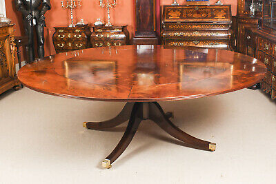 """Vintage 7ft 4""""  Diameter Flame Mahogany Jupe Dining Table. Mid 20th C"""