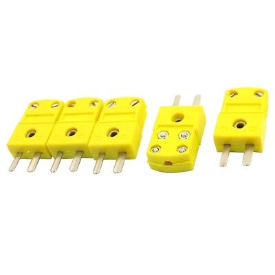 1X(5Pcs RTD Circuits K Type Temperature Sensor Thermocouple Plugs Yellow X5D8)