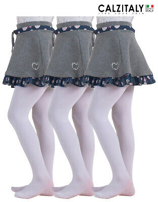 3 Pairs Girls Tights, Children School Uniform Pantyhose, Tights Teen 40 Den