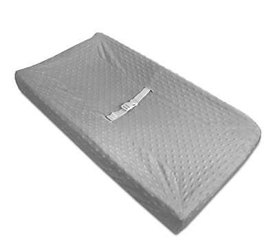 American Baby Company Heavenly Soft Minky Dot Fitted Contoured Changing Pad Gray