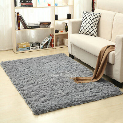 Modern Soft Anti-Skid Shaggy Area Rugs for Home Living Room Bedroom 50 x 80 cm