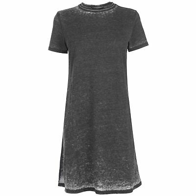 Womens Firetrap Blackseal T Shirt Dress Mini Short Sleeve New