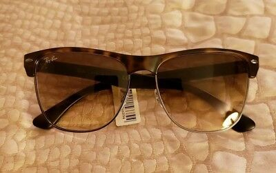 e87ca907f804 Ray Ban Unisex Sunglasses Clubmaster Oversized RB4175 878 51 Tortoise