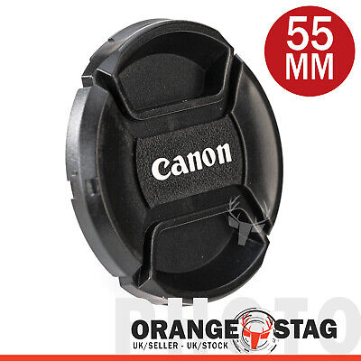 Canon 55 mm lens cap, Centre Pinch for Canon Lenses with 55 mm filter thread