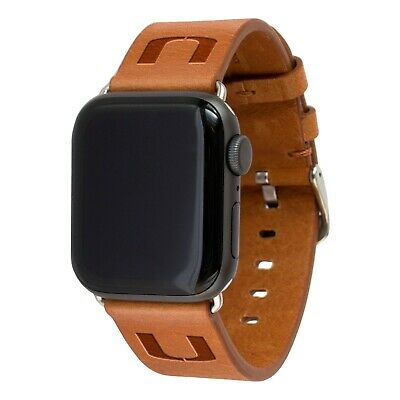 Miami Hurricanes Premium Leather Band Compatible With the Apple Watch