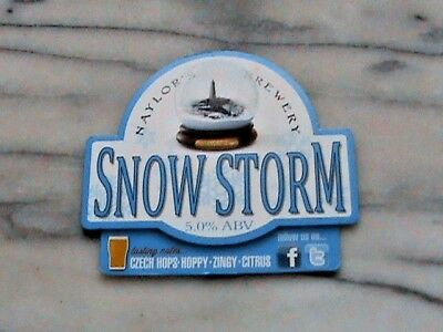 Naylor's Snow Storm real ale beer pump clip sign