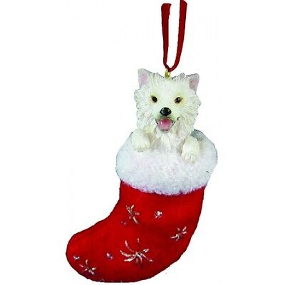 American Eskimo Santa's Little Pals Dog Christmas Ornament