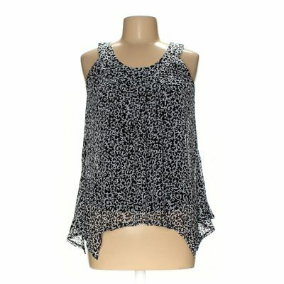 Larry Levine Sleeveless Pullover Layered Fly Away Top Womens Black NEW 7135