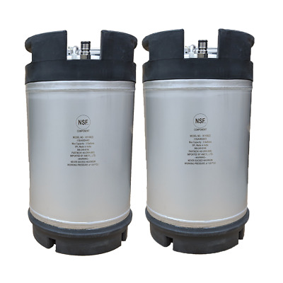 2 pack NEW 3 Gallon Ball Lock Kegs - Homebrew Beer & Cold Brew Coffee  Ship Free