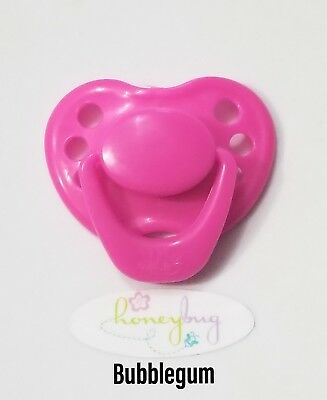 Pink Reborn Baby Mam Pacifier With Fully Reversible Magnet Just Slip And Flip!!