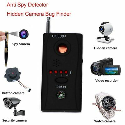 Hidden Camera Anti Spy Detector RF GPS Tracker Full Range Signal Bug Finder SU