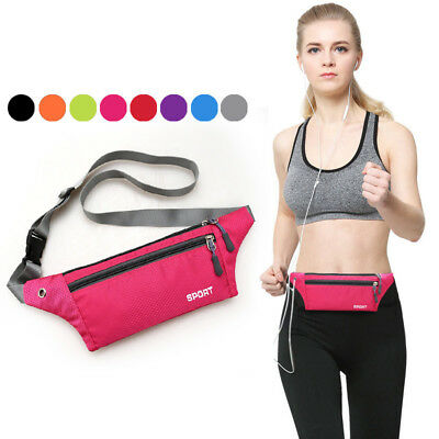 Women Men Waist Fanny Pack Belt Bag Phone Pouch Travel Gym Hip Purse Wallet US