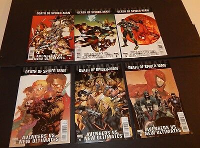 Avengers vs New Ultimates 1-6 Complete set NM Death of Spider-Man 2011