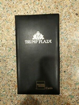 RARE Trump Plaza Amex Guest Check Book Credit Card Holder Presenter NEW L@@K!!!!
