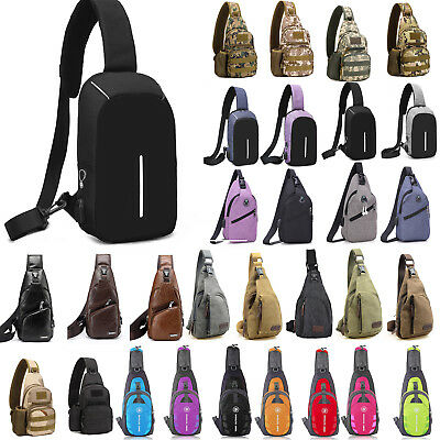 Mens Sling Bag Chest Pack Cycle Travel Sports Backpack Shoulder Crossbody Bag US