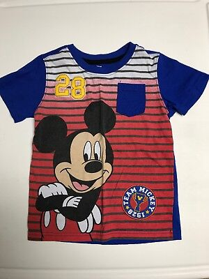 Disney Mickie Mouse Clubhouse Toddler 4T Shirt Red And Blue