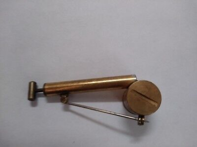 Vintage Brass Moveable Garden Bug Sprayer Perfume Atomizer Pump Brooch Pin