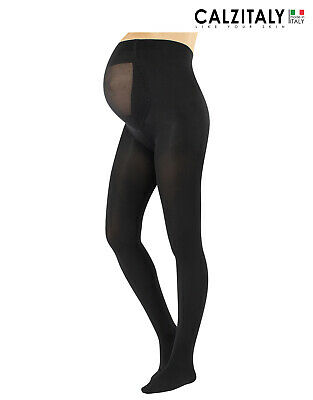 Maternity Tights, Opaque Pregnancy Pantyhose, Mama Tights,100 DEN, Made in Italy