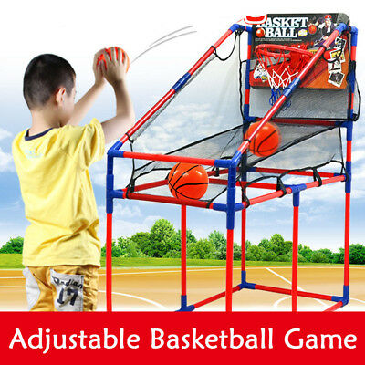 Arcade Basketball Game Toys Kids Indoor Outdoor Fun Air Pump Ball Ring Hoops W