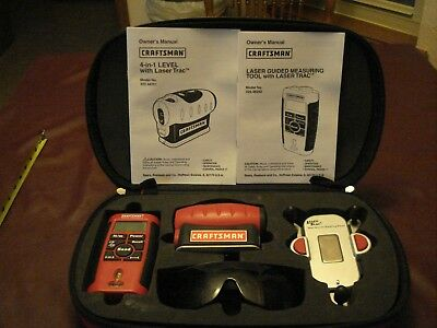 CRAFTSMAN 4-in-1 LASER TRAC LEVEL w/ Carrying Case & Laser Enhancing Glasses