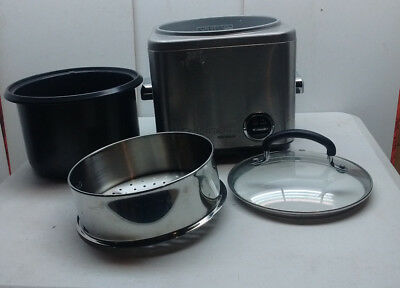 Cuisinart 8 Cup Electric Rice Cooker & Food Vegetable Steamer Lid Non-stick
