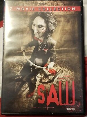 Saw Movies unrated on DVD i ii iii iv v vi final chapter 1 2 3 4 5 6 7 1-7